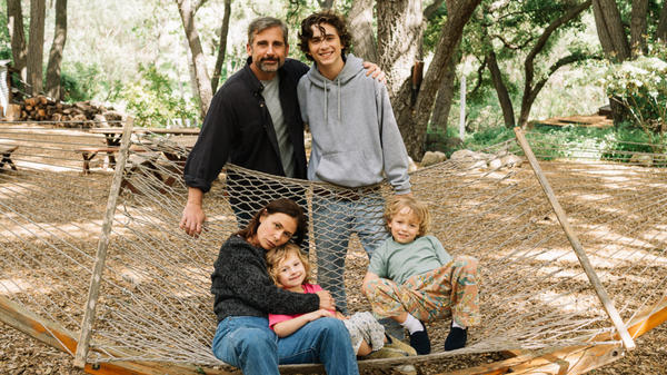 (Clockwise from top left) Steve Carell, Timothee Chalamet, Christian Convery, Oakley Bull and Maura Tierney star in <em>Beautiful Boy, </em>which is featured at the Toronto International Film Festival.