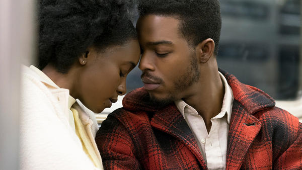 Tish (Kiki Layne) and Foney (Stephan James) in <em>If Beale Street Could Talk.</em>