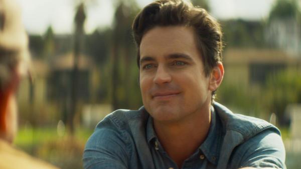 Sean (Matt Bomer) looking beatific in <em>Papi Chulo</em>.