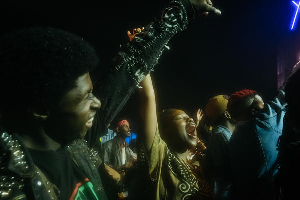 Those who waited out the rain in Johannesburg in December celebrate at Afropunk.