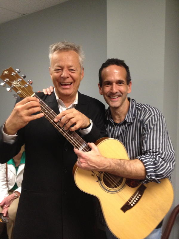 """Barfield is pictured with his """"favorite guitarist ever,"""" Tommy Emmanuel."""