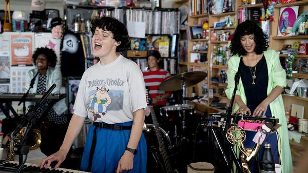 Kalbells performs a Tiny Desk Concert on June 28, 2018 (Samantha Clark/NPR).
