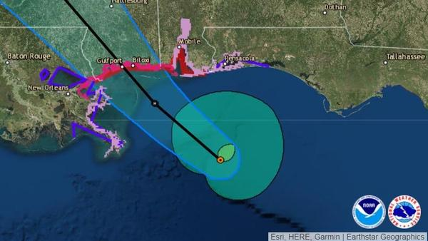Gordon is predicted to make landfall as a hurricane and hit the Mississippi coast late Tuesday. Forecasters say a dangerous storm surge could bring flooding to a wide stretch of the Gulf Coast.