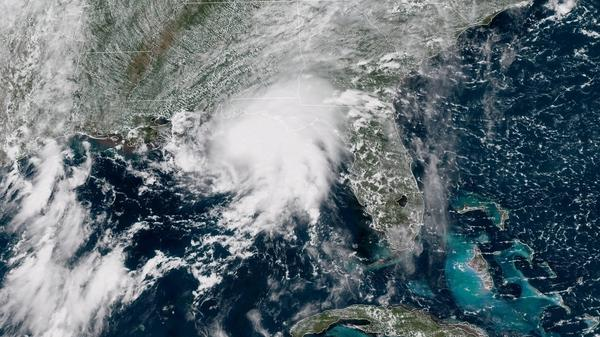 Gordon is seen here in a satellite image from around 1 p.m. CT Tuesday.