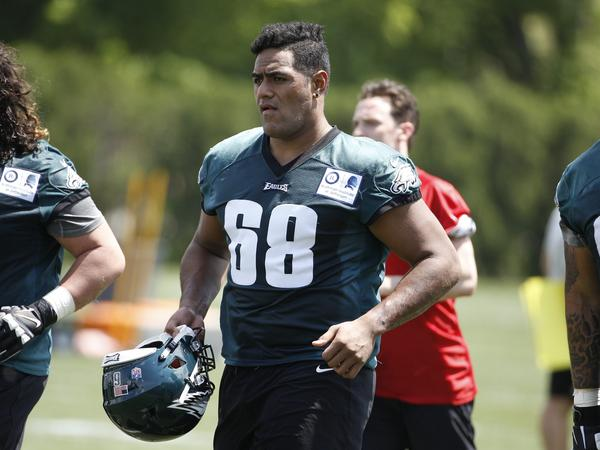 Philadelphia Eagles offensive tackle Jordan Mailata, of Australia, has made the team's final roster after starting to play football only a few months ago.