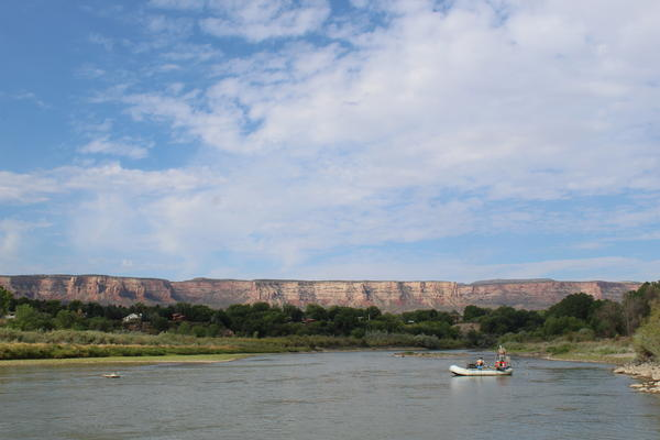 The Colorado River flows downstream of Grand Junction, Colorado in August 2018.