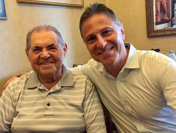 Antonio Caputo, right, owner of Red Rose Pizzeria in Springfield, Mass., with his father, Nicola Caputo, who started the Springfield restaurant with his wife in 1963.
