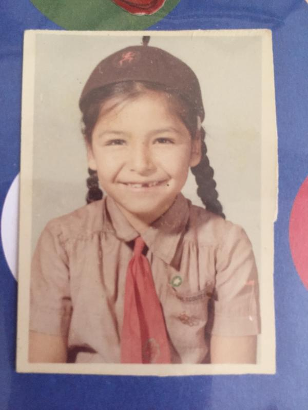 Sylvia Acevedo as a young girl scout.