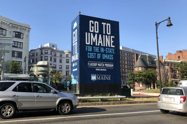 "The UMaine Flagship Match Program ""guarantees academically qualified, first-year students from several states will pay the same tuition and fee rate as their home state's flagship institution."" (Alex Schroeder/On Point)"