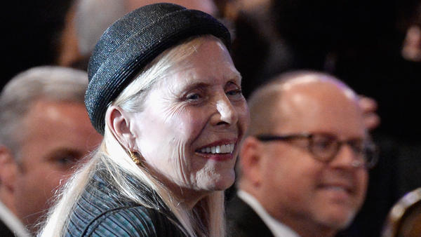Joni Mitchell, photographed during the Grammys' Salute To Industry Icons event on February 7, 2015 in Beverly Hills, California. The singer will be celebrated in a pair of concerts on Nov. 6 and 7, 2018 in Los Angeles.