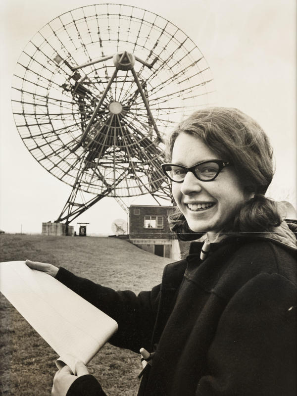 Bell Burnell in 1968 at the Mullard Radio Astronomy Observatory at Cambridge University.