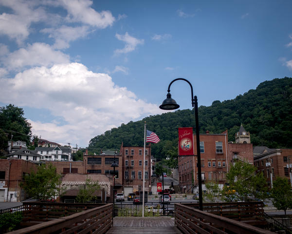 Downtown Welch, W.Va., in McDowell County, which is one of the top regions in the U.S. where people don't vote.