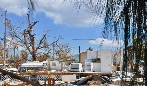A mobile home on Little Torch Key destroyed by Hurricane Irma. Photographed on Sept. 19, 2017.