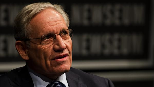 Bob Woodward speaks at the Newseum in Washington, D.C., in 2012, during an event marking the 40th anniversary of Watergate. Woodward's new book describes chaos within the Trump administration.