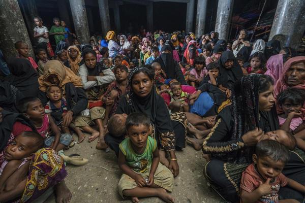 Last November, Shahidul Alam photographed Rohingya refugees in a Bangladeshi cyclone shelter.