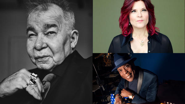 John Prine (credit: Danny Clinch), Rosanne Cash (credit: Michael Lavine), Buddy Guy (credit: Paul Natkin)