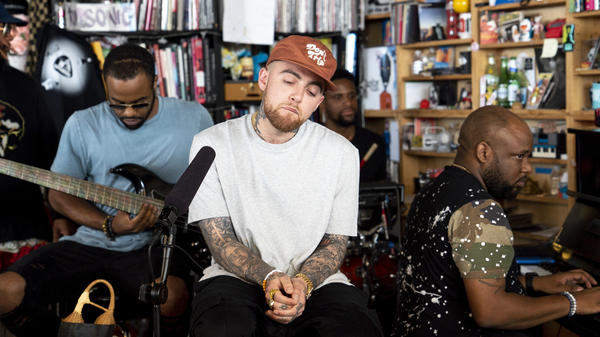 Mac Miller performs a Tiny Desk Concert on Aug.1, 2018.