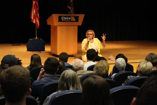 On a tour across Missouri, U.S. Senator Claire McCaskill stopped Monday to meet with students at the University of Missouri-Kansas City.