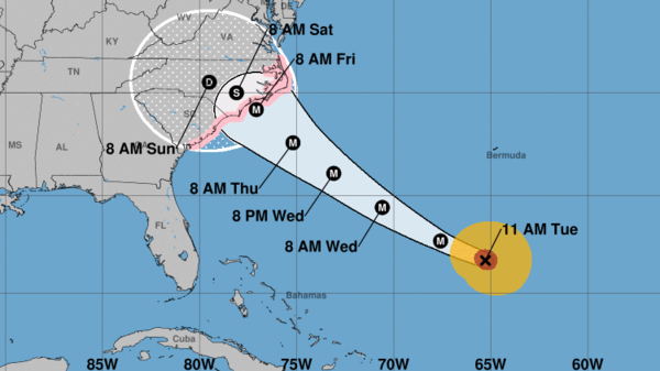 Hurricane Watch Issued For Carolinas As Category 4 Florence Plows