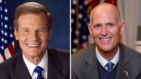 Sen. Bill Nelson (D-Fla.) and Gov. Rick Scott (R-Fla.)