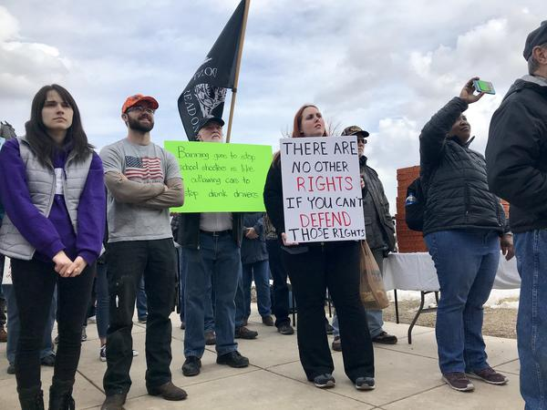 A 'March For Our Guns' Rally in Helena, Montana.