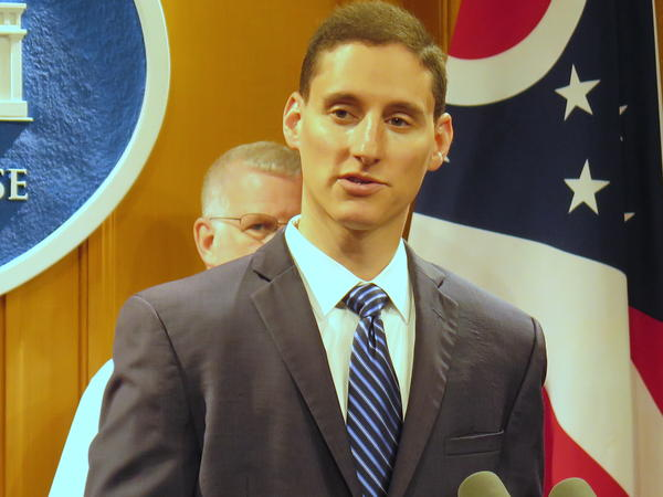 Treasurer Josh Mandel in a press conference in August 2016.
