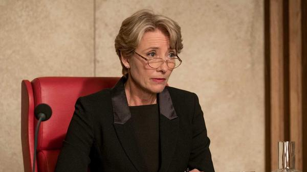 Fiona Maye (Emma Thompson) presides over a humorless script in <em>The Children Act</em>.