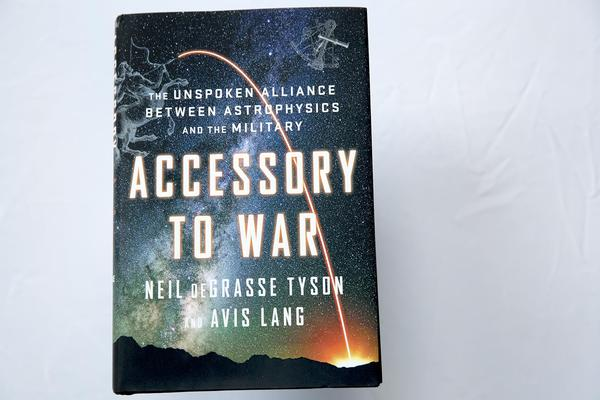 """Accessory to War,"" by Neil deGrasse Tyson and Avis Lang. (Robin Lubbock/WBUR)"