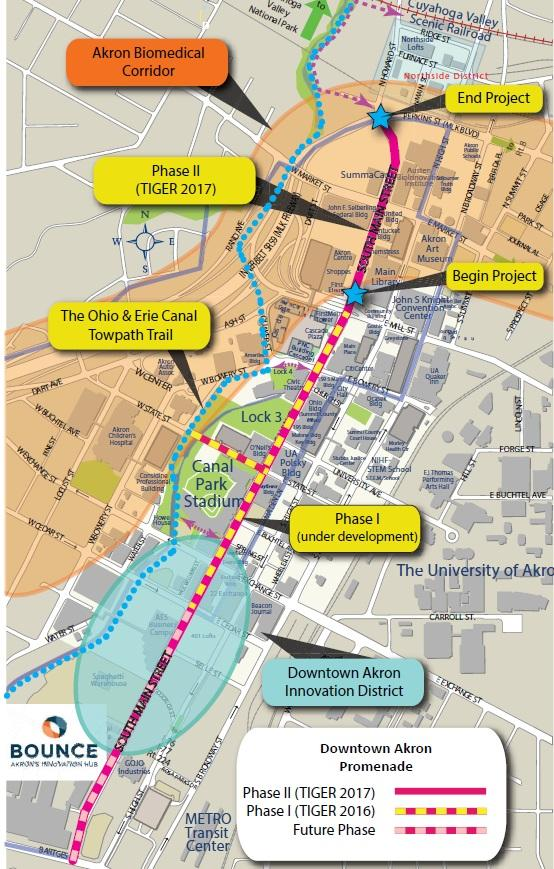 Akron's Main Street project is slated for completion in 2022.