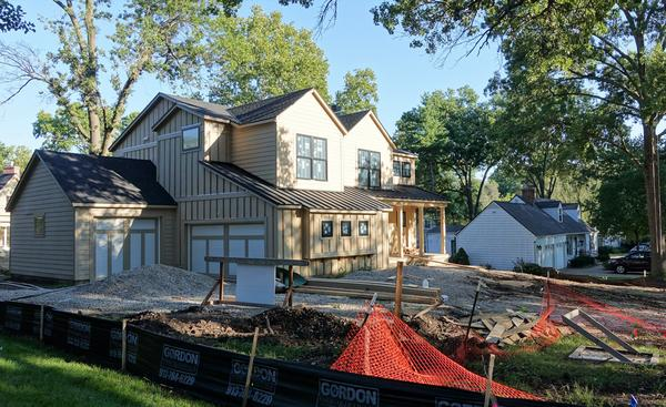 At 74th Place and Delmar, at least two homes have come down to make way for new, bigger houses. Prairie Village City Council will now vote in October on new rules that may make curb the uptick in rebuilds in the area.