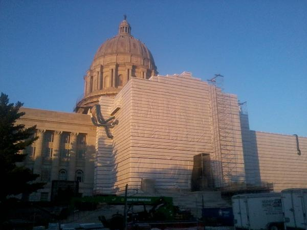 Missouri Capitol on Sept. 10, 2018, undergoing renovations.