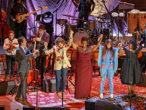 Brandi Carlile, Irma Thomas, Courtney Marie Andrews and others on stage at the Americana Music Awards show in Nashville.