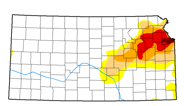 Drought conditions remain severe in parts of northeastern Kansas.