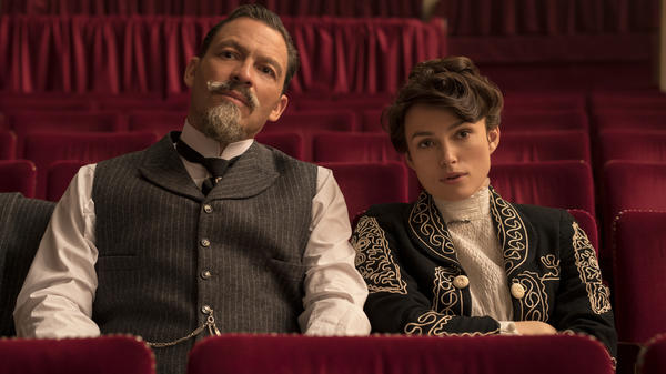 Willy (Dominic West) and Colette (Keira Knightley) audition prospective Claudines in Wash Westmoreland's <em>Colette</em>.