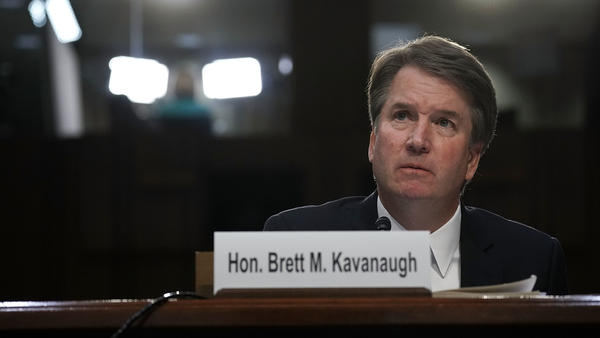 Supreme Court nominee Judge Brett Kavanaugh testifies before the Senate Judiciary Committee on Sept. 6, 2018.