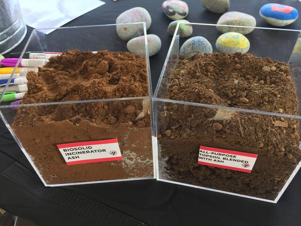 The Northeast Ohio Regional Sewer District's partnership with Kurtz Bros. has repurposed the ash to be used in topsoil (right), which is richer in nutrients.