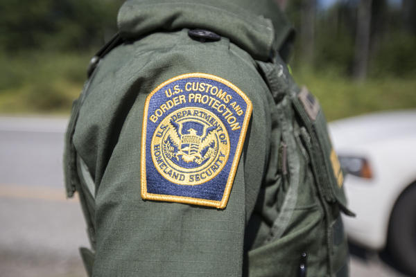 A patch on the uniform of a U.S. Border Patrol agent at a highway checkpoint on Aug. 1, 2018 in West Enfield, Maine. (Scott Eisen/Getty Images)