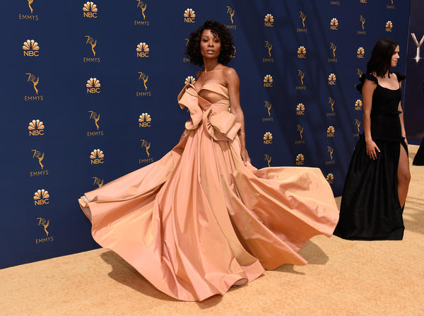 TV personality Zuri Hall arrives to the 70th Annual Primetime Emmy Awards held at the Microsoft Theater.