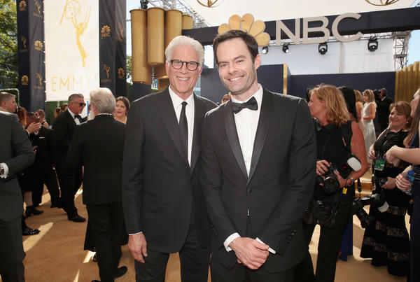 Actors Ted Danson and Bill Hader