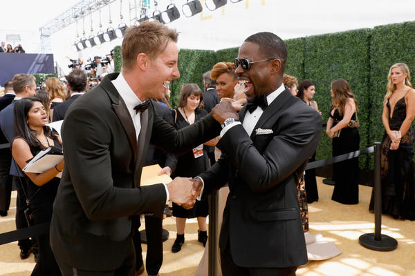 Actors Justin Hartley and Sterling K. Brown