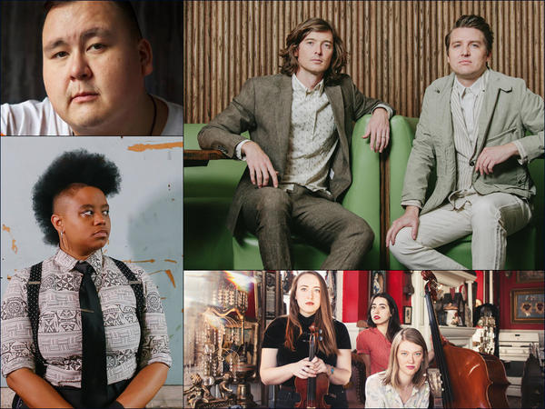 Clockwise from upper left: William Prince, The Milk Carton Kids, Lula Wiles, Amythyst Kiah