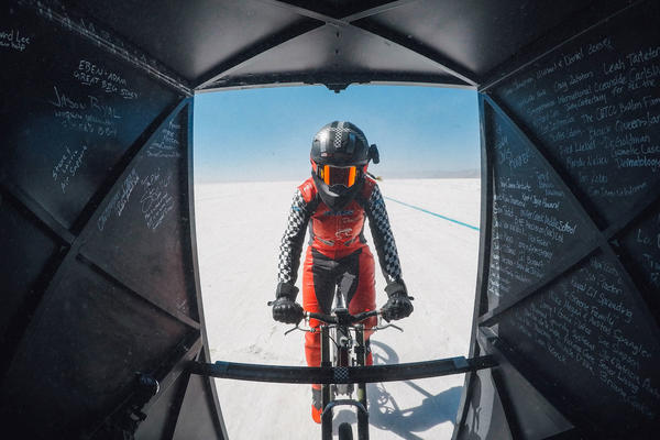Denise Mueller-Korenek rode a custom bike at an average of 183.932 miles per hour — shattering a world record that had stood since 1995.