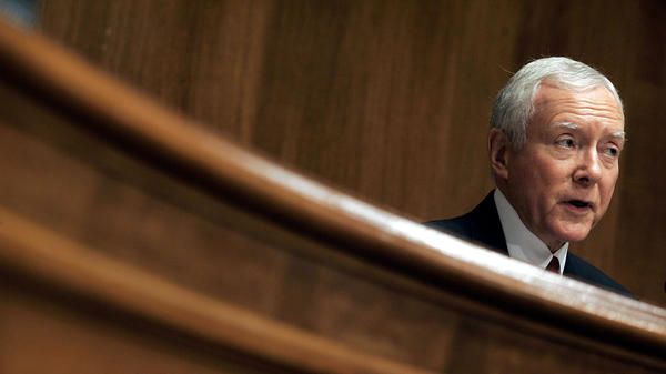 Sen. Orrin Hatch, photographed during a Senate hearing on music licensing reform on July 12, 2005. Hatch — a songwriter with both a platinum and gold record for his efforts — had his name added to the title of the Music Modernization Act, which passed the Senate unanimously on Sep. 18, 2018.