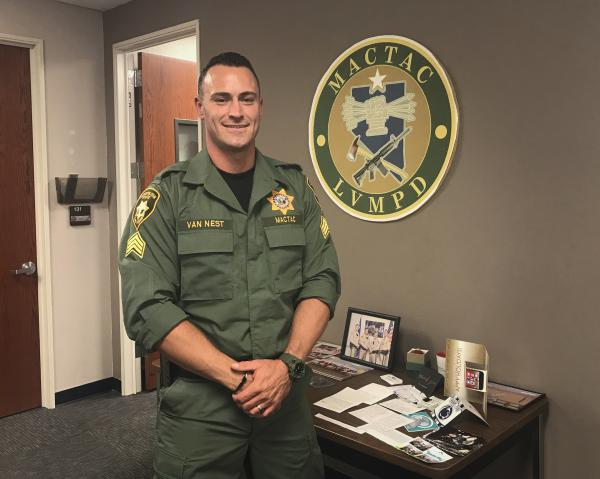 Sgt. Justin Van Nest of the Las Vegas Metropolitan Police Department.