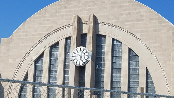 The hands of the Union Terminal clock were installed Thursday morning.