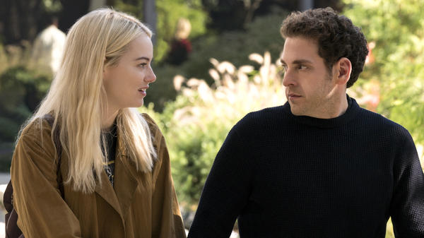Emma Stone and Jonah Hill in Netflix's <em>Maniac</em>.