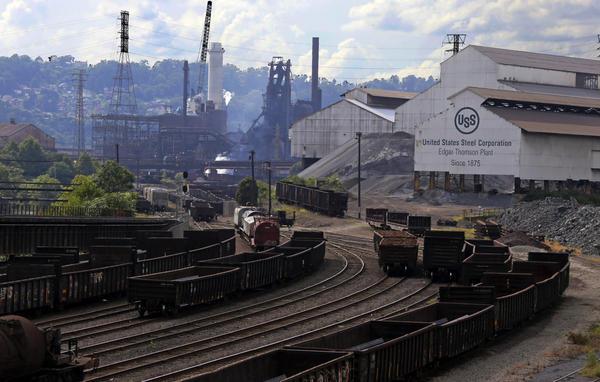 The United States Steel Edgar Thomson Works in Braddock, Pa, Friday, Aug. 31, 2018. (Gene J. Puskar/AP)