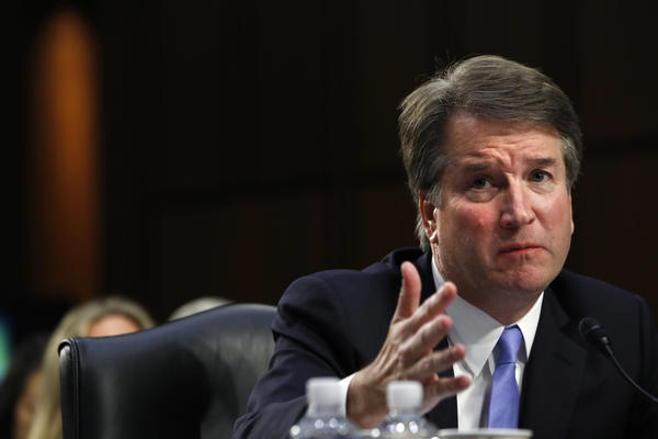 Brett Kavanaugh, answers a question about guns from Sen. Richard Blumenthal, D-Conn., during a third round of questioning on the third day of his Senate Judiciary Committee confirmation hearing.
