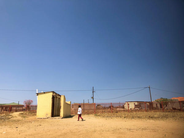 Pit toilets located outside of Utjane Primary School in Limpopo province. The government of South Africa has vowed to do away with all pit latrines.