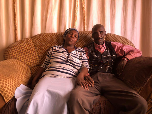 James and Rosina Komape. In 2014, their 5-year-old son, Michael, fell in a pit latrine at school and drowned.